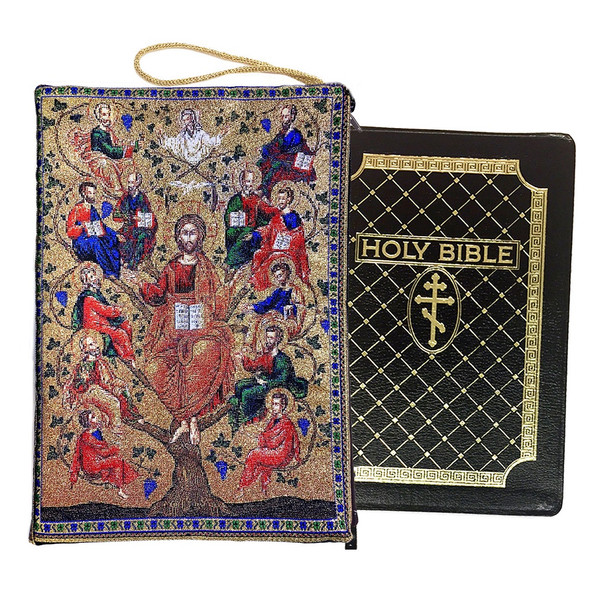 Tapestry cover, Christ Tree of Life Vine with Apostles