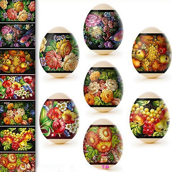 Egg Wraps with Slavic Floral Designs