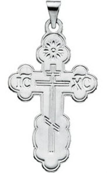 008171 St. Olga Cross, sterling silver, large, chain included