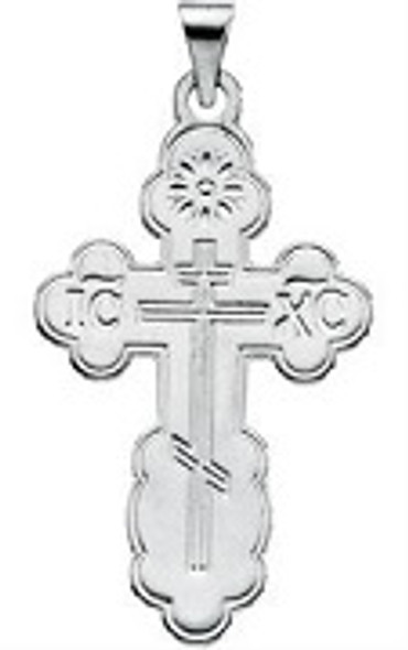 St. Olga Cross, 14k white gold, small