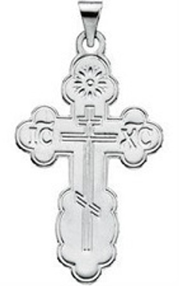 St. Olga Cross, 14k white gold, medium