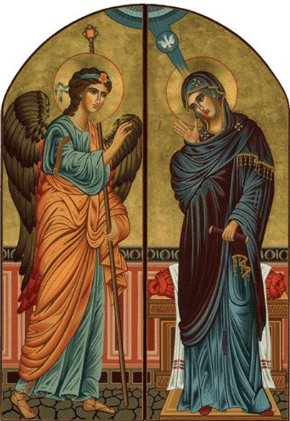 Diptych: Annunciation, large icons