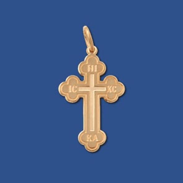 Baptismal Cross, 14k yellow gold, medium