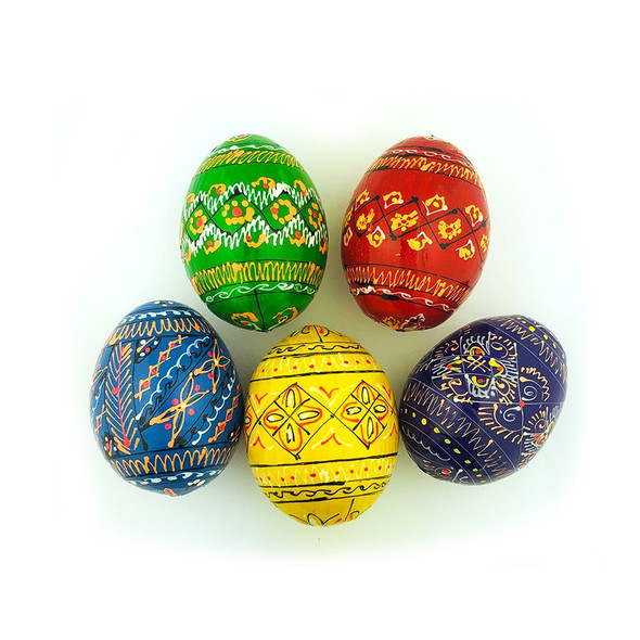 5-pack Wooden Eggs, Pysanky Design. An exceptional Easter gift!