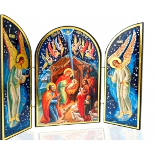 Nativity triptych, Christ and Angels