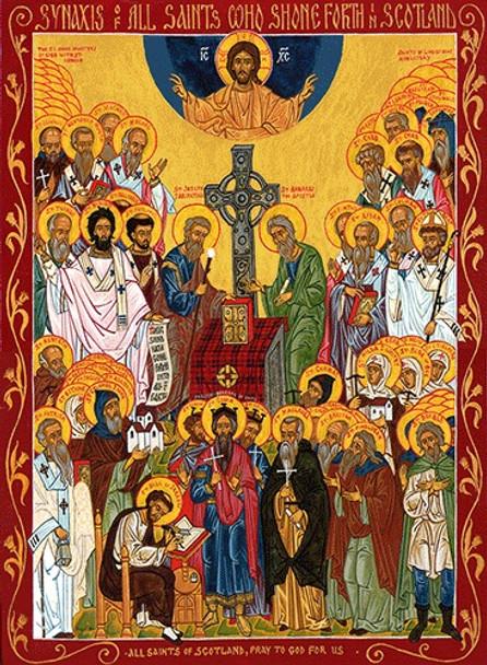 All Saints of Scotland, large icon
