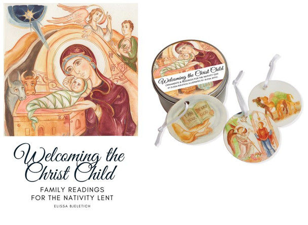 Welcoming the Christ Child, Gift Set. Includes a book and 40 Jesse tree ornaments!