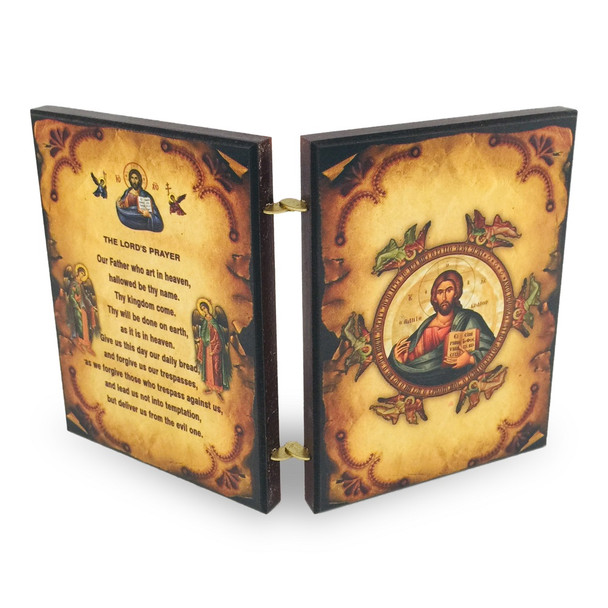 Diptych: Christ and Mother of God with Lord's Prayer, back