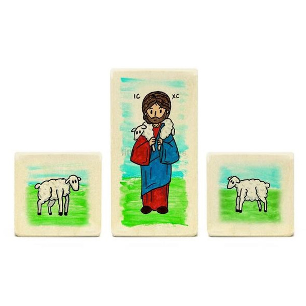 Little Saints Jesus the Good Shepherd Playset