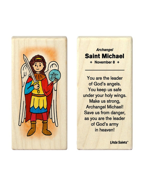 Little Saints Saint Michael the Archangel Individual Block