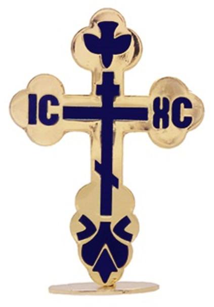 Standing St Xenia Cross, goldtone