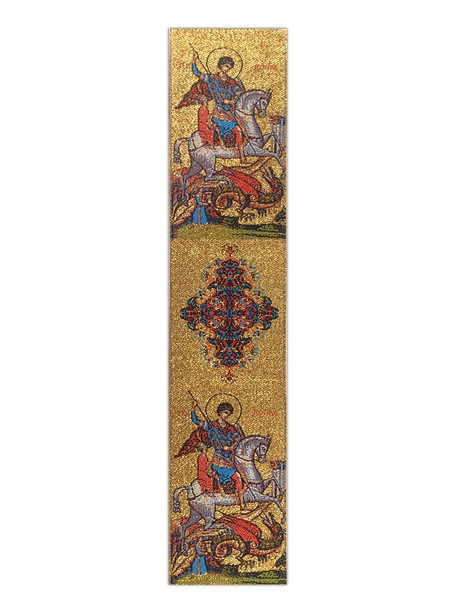 Tapestry bookmark, Saint George