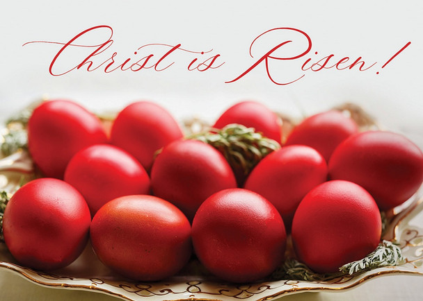 Red Eggs for Pascha, pack of 10 cards