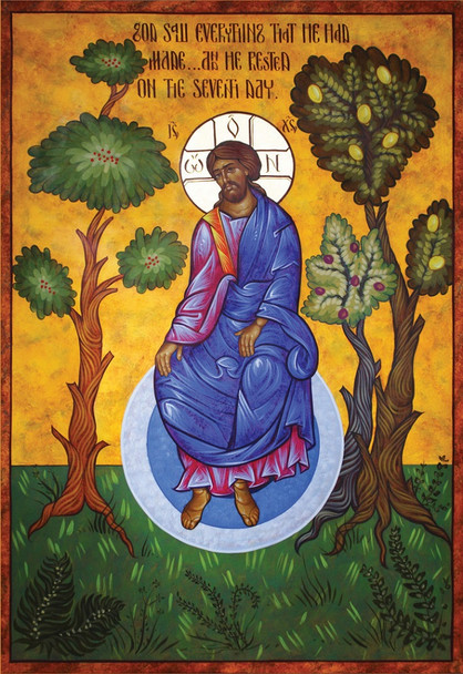 Creation, God Rests, large icon