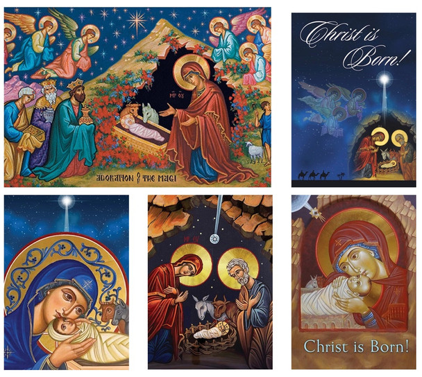 Mixed Pack Classic Christmas Cards, pack of 15