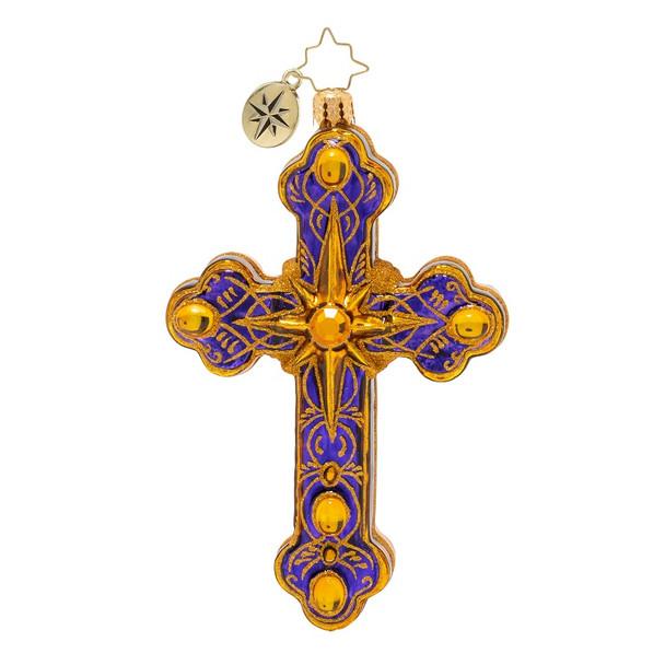 Ornament, Christopher Radko, Cherished Cross Christmas Ornament front