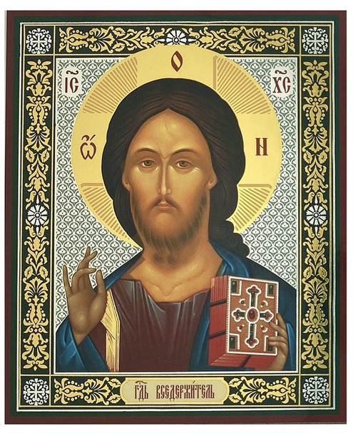 Christ the Teacher (gold and silver foil), small icon
