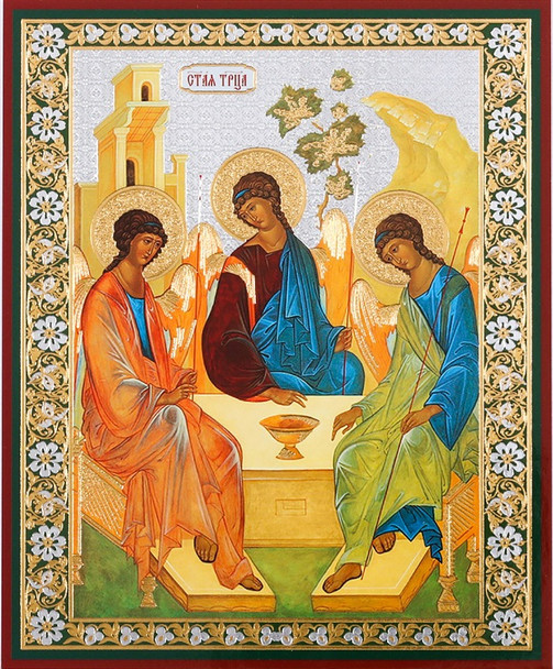 Old Testament Trinity (gold and silver foil), small icon