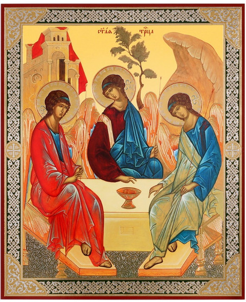 Holy Trinity (gold and silver foil), medium icon