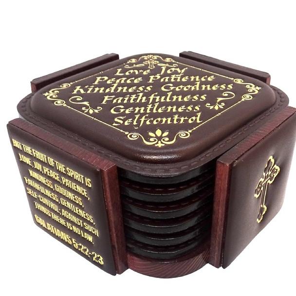 Leatherette Coasters, set of 6