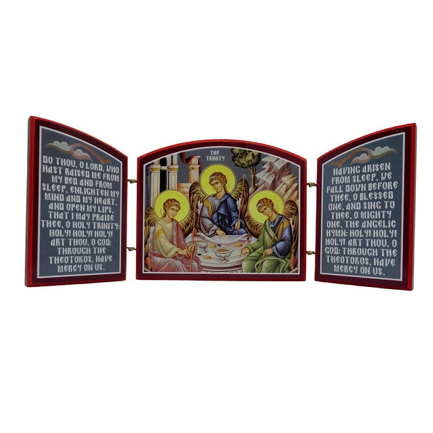 Triptych: Holy Trinity with prayers