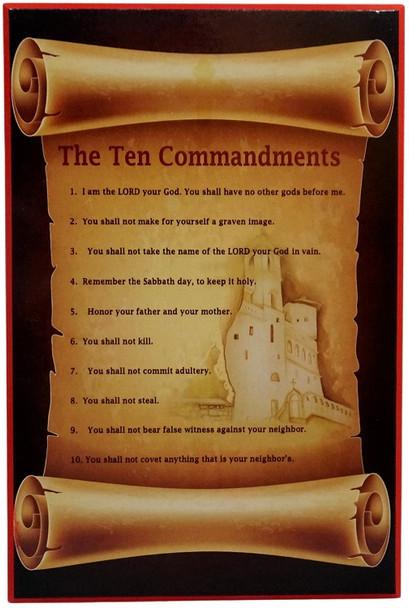 Ten Commandments Plaque, large