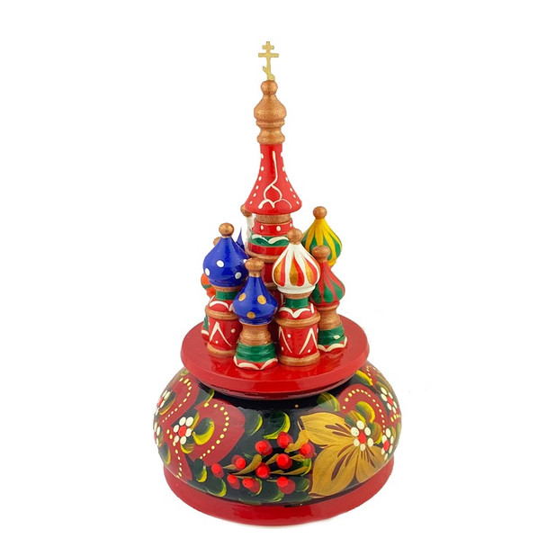 Music Box, Saint Basil with cross. The music is a traditional Russian folk melody.