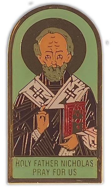 Auto Visor Clip, St. Nicholas icon