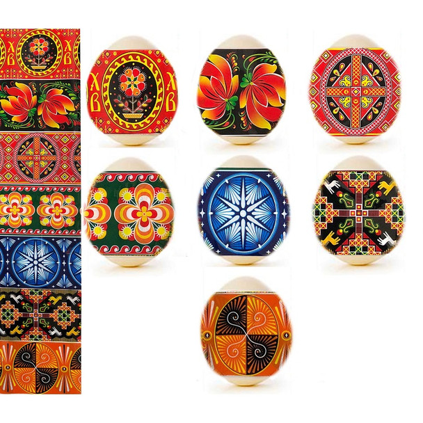 Egg Wraps with Floral and Geometric Designs (pack of 7)