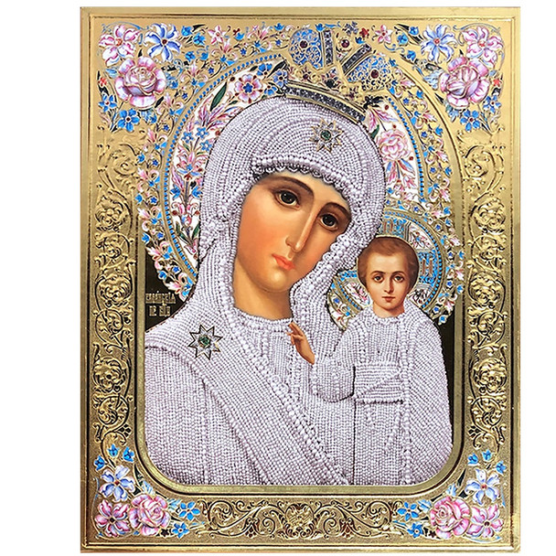 Virgin of Kazan with Roses, extra-large ico