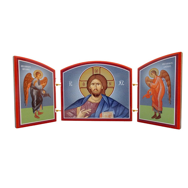 Triptych: Christ with Archangels
