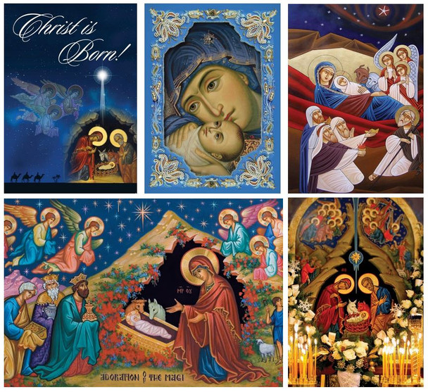 Mixed Pack of Classic Christmas Cards, pack of 15