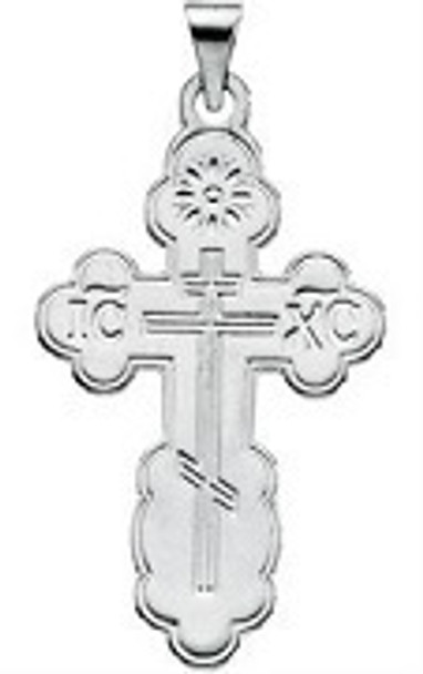 St. Olga Cross, sterling silver, small, chain included