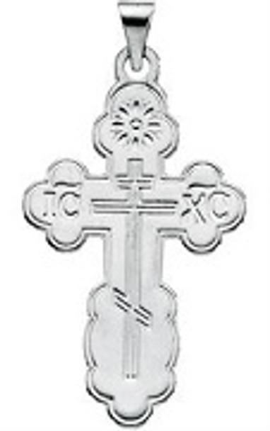 St. Olga Cross, 14k white gold, small