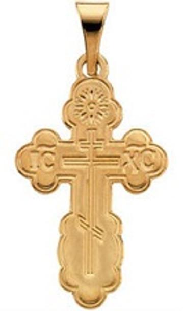 St. Olga Cross, 14k yellow gold, medium
