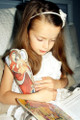 Child holding Soft Doll, Most Holy Theotokos