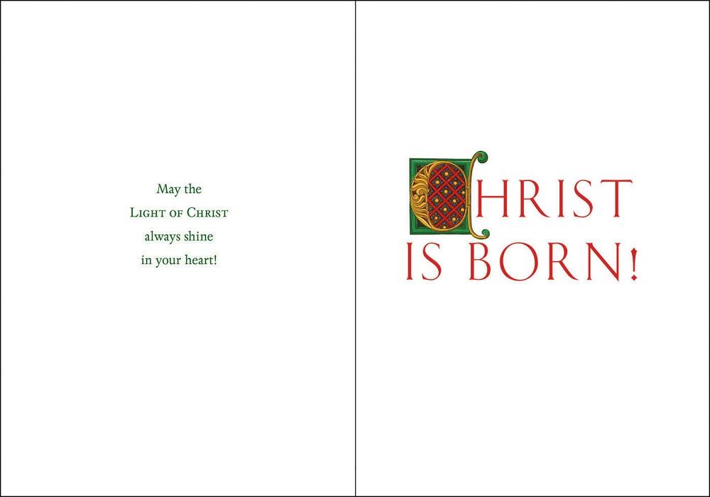 Candlight Christmas Card