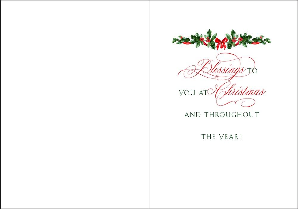 Merry Christmas card interior