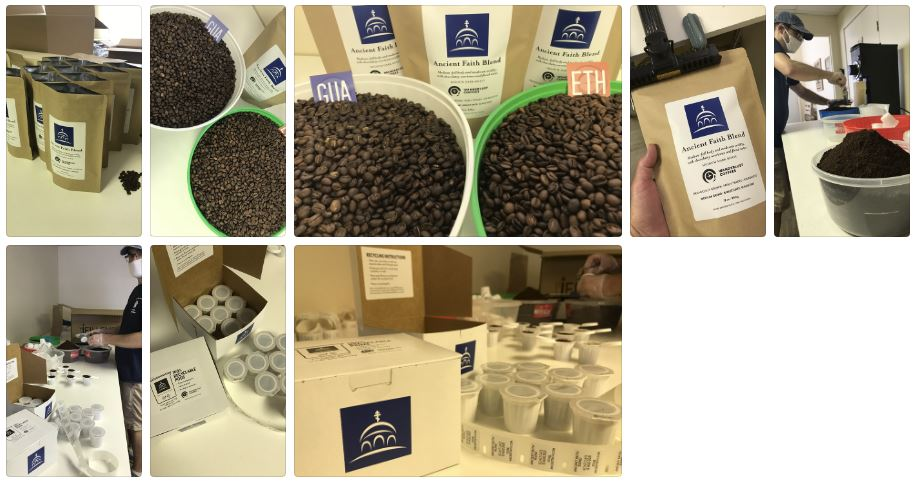 Ancient Faith Blend Coffee roasted at Wanderlust Coffees in Lancaster, PA!