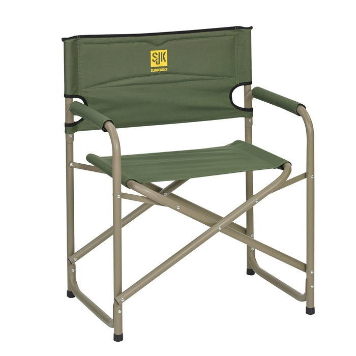 Slumberjack Big Steel Chair with Forest Green color. Front view.