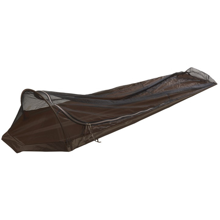 Slumberjack Contour Bivy Screen. Overhead photo of the bivy showing it completely closed.