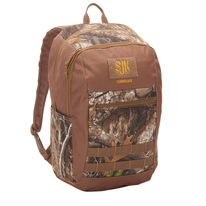 Slumberjack Crossroad 20 backpack, Realtree Edge print, front view