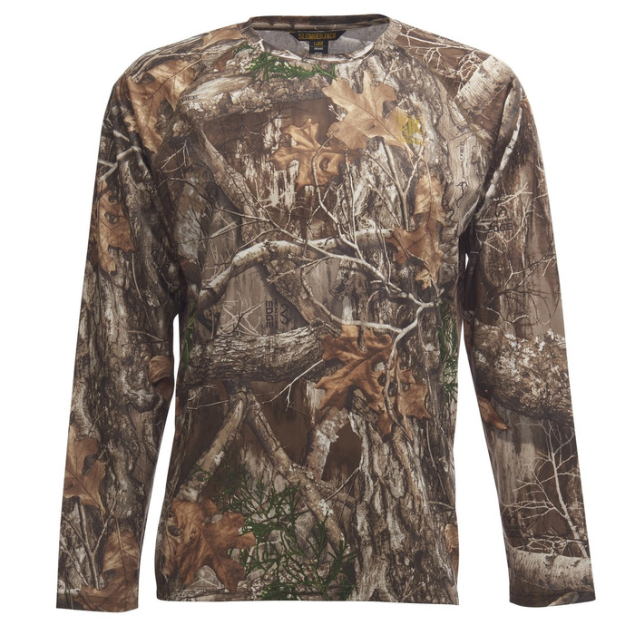 Slumberjack Deer Stalker Long Sleeve Top, Realtree EDGE Camo, front view