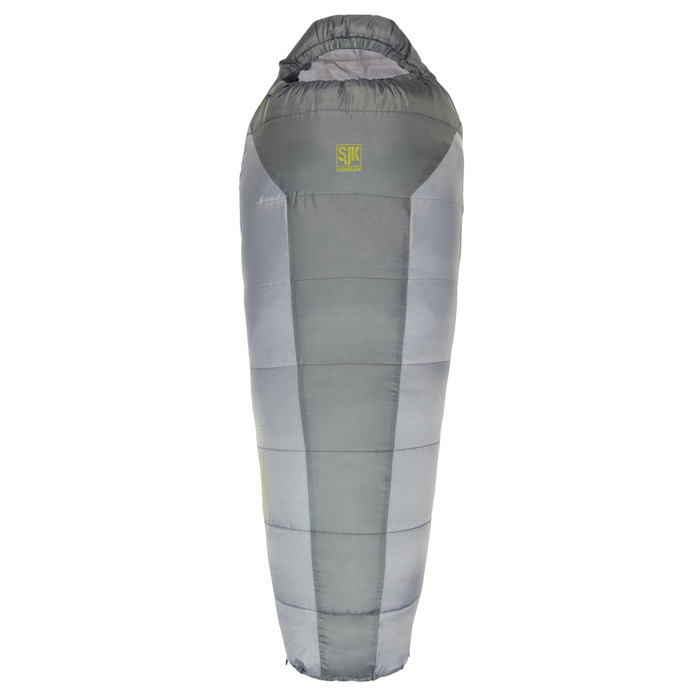 SJK Youth Boundary 30 Sleeping Bag, gray, front view, closed