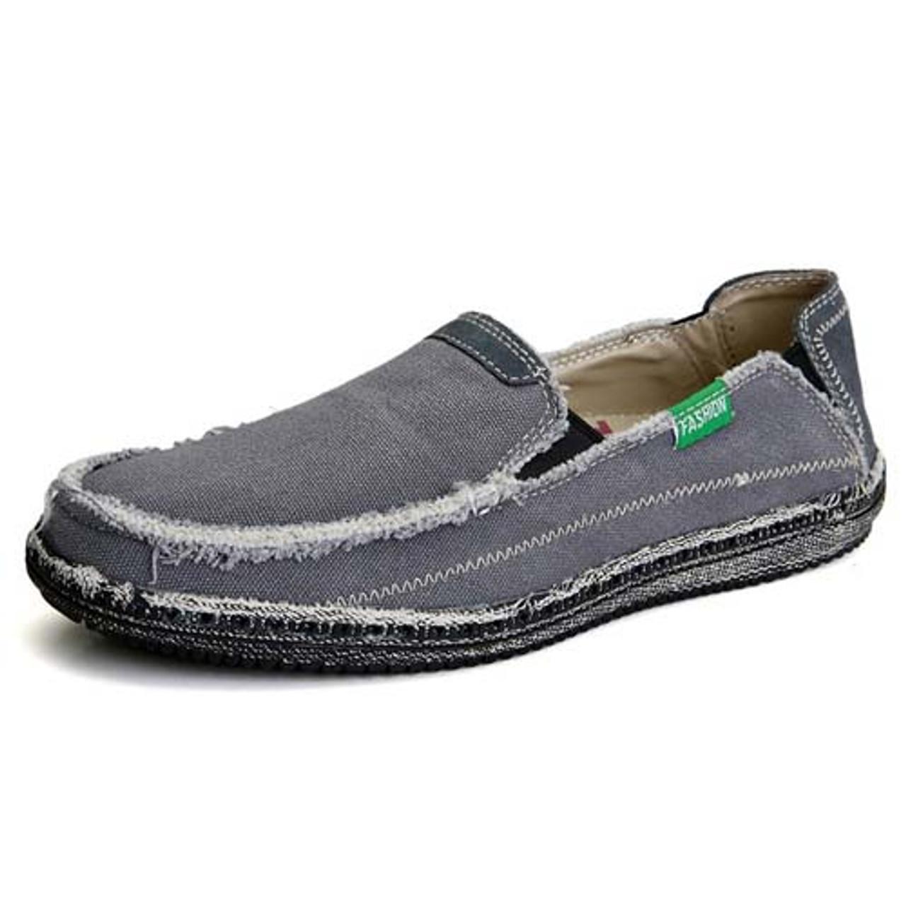 Grey casual denim style Converse slip