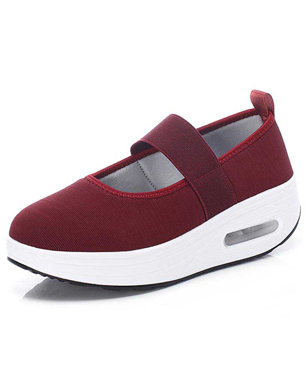 official photos 87149 96e6c Red low cut slip on rocker bottom shoe sneaker 1993