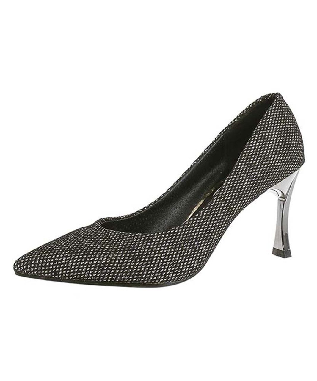 spot National flag Every year  Silver suede slip on slim high heel dress shoe 2188 | Womens heel dress  shoes online 2188WS