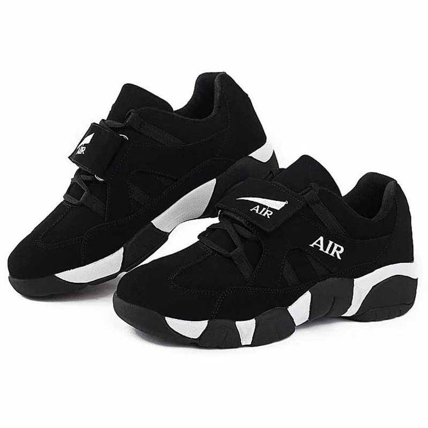 outlet store 34a6c 9dd9d Black AIR velcro leather sport shoe sneaker