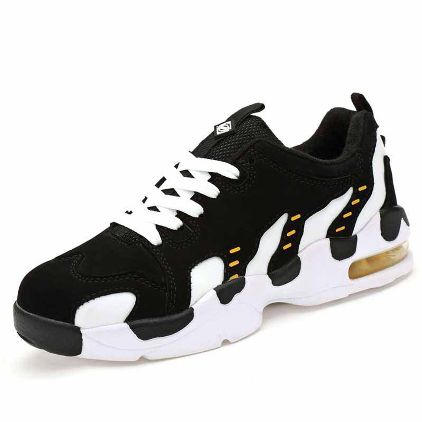 Black white pattern leather air sole