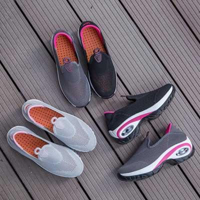 double rocker shoes, nursing slip ons